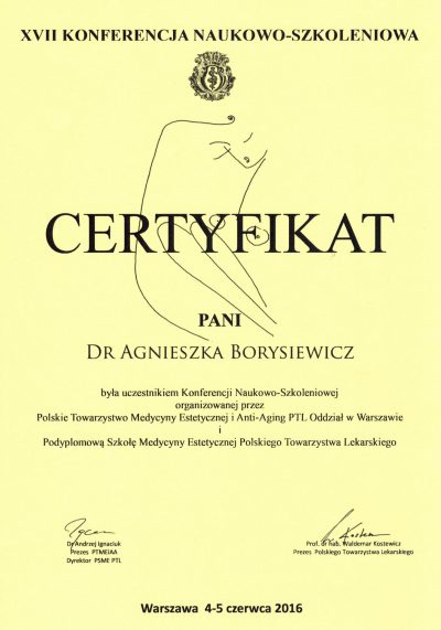 Certyfikat 2016.06.05 - Konferencja