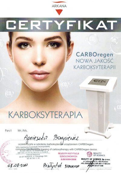 Certyfikat 2017.08.08 - Karboksyterapia