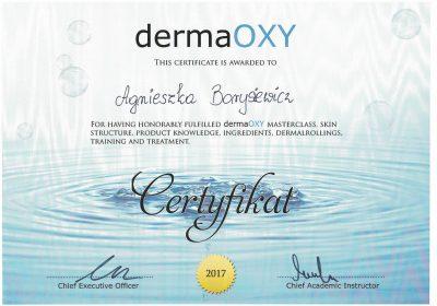 Certyfikat 2017.09.01-Infuzja tlenowa