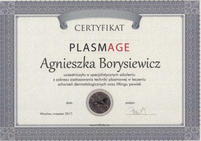 Certyfikaty 2017.09.01 - Plazma medyczna Plasmage