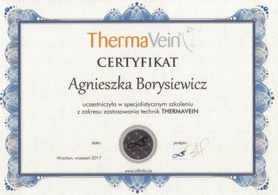 Certyfikat 2017.09.01 - Termokoagulacja ThermaVein