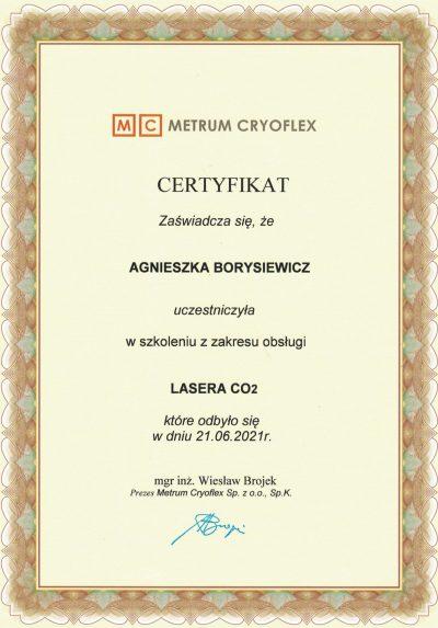 Certyfikat 2021.06.21 - Laser CO2