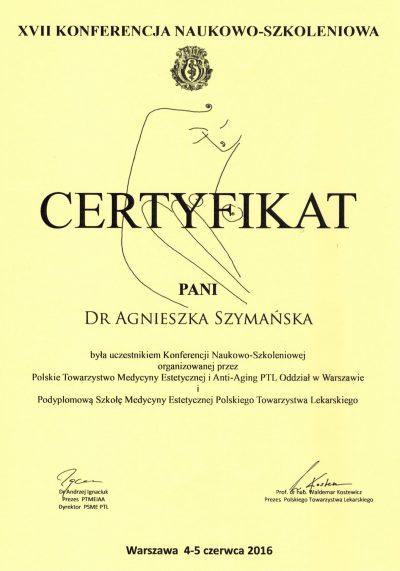 Certyfikat - 2016.06.05 - Konferencja