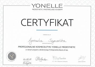 Certyfikat 2017.08.21 - Yonelle