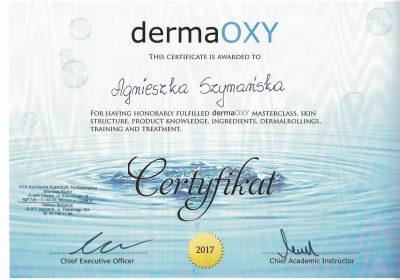 Certyfikat 2017.09.01 -Infuzja tlenowa