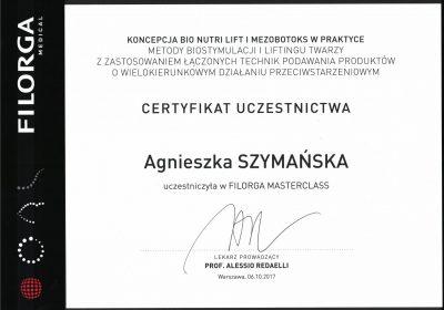 Certyfikat 2017.10.06 - Warsztaty Filorga
