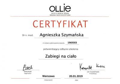 Certyfikat 2019.01.20 - Zabiegi na ciało