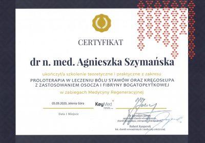 Certyfikat 2020.09.05 - Proloterapia