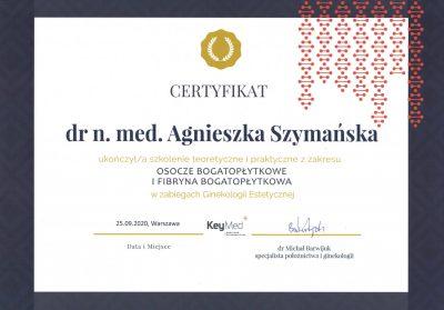 Certyfikat 2020.09.25 - Ginekologia estetyczna