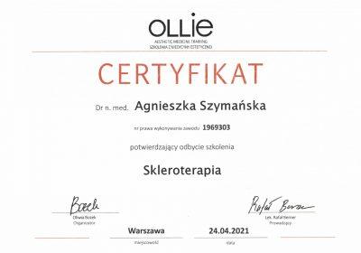 Certyfikat 2021.04.24 - Skleroterapia