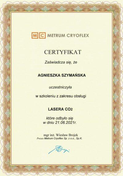 Certyfikat 2021.06.21 -Laser CO2